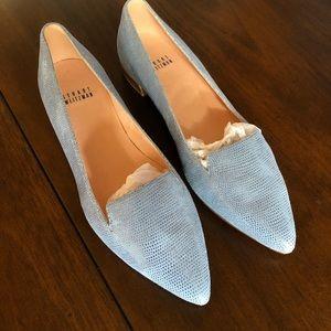 🦄Stuart Weitzman Rialto flats loafers blue NWOT 7